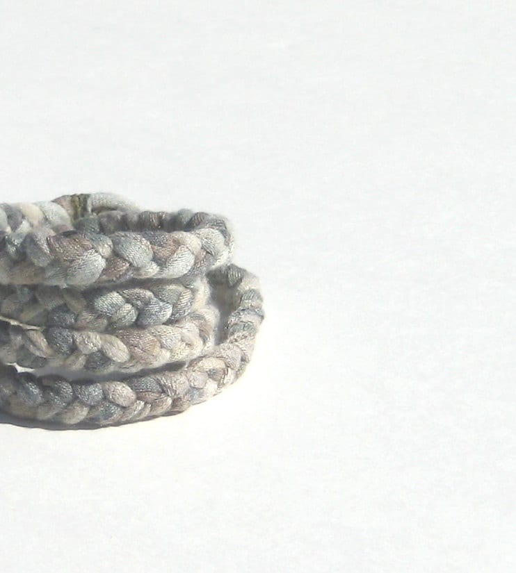Fabric Bracelet. Camo colored Braided Bracelet. Winter Fashion. Casual Style. green brown sage olive inspired by camping woodland nature - SmiLeaGainCreations