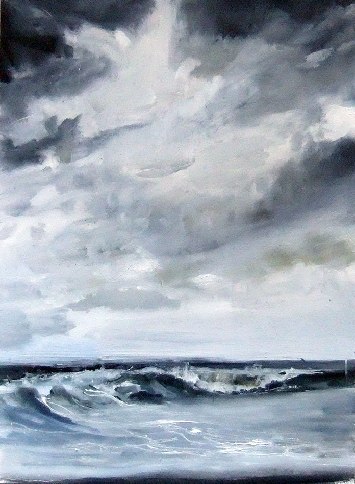 The Pacific  Ocean Sm- Original Oil Painting - JasonJVilleneuve