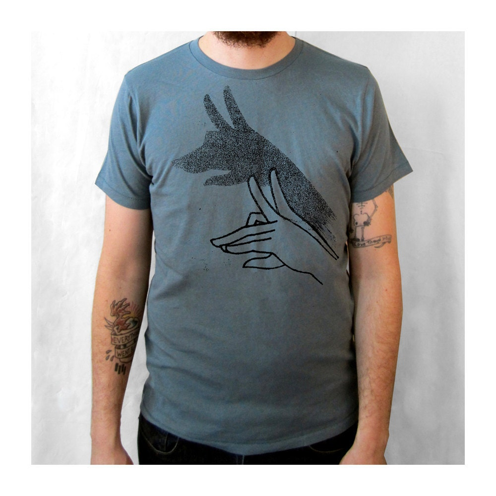 Wolf Shadow Puppet shirt. ringspun cotton.