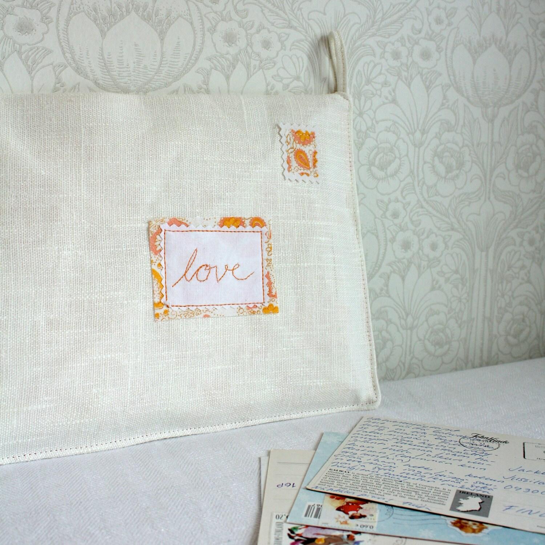 loveletters -mail organizer, white & orange