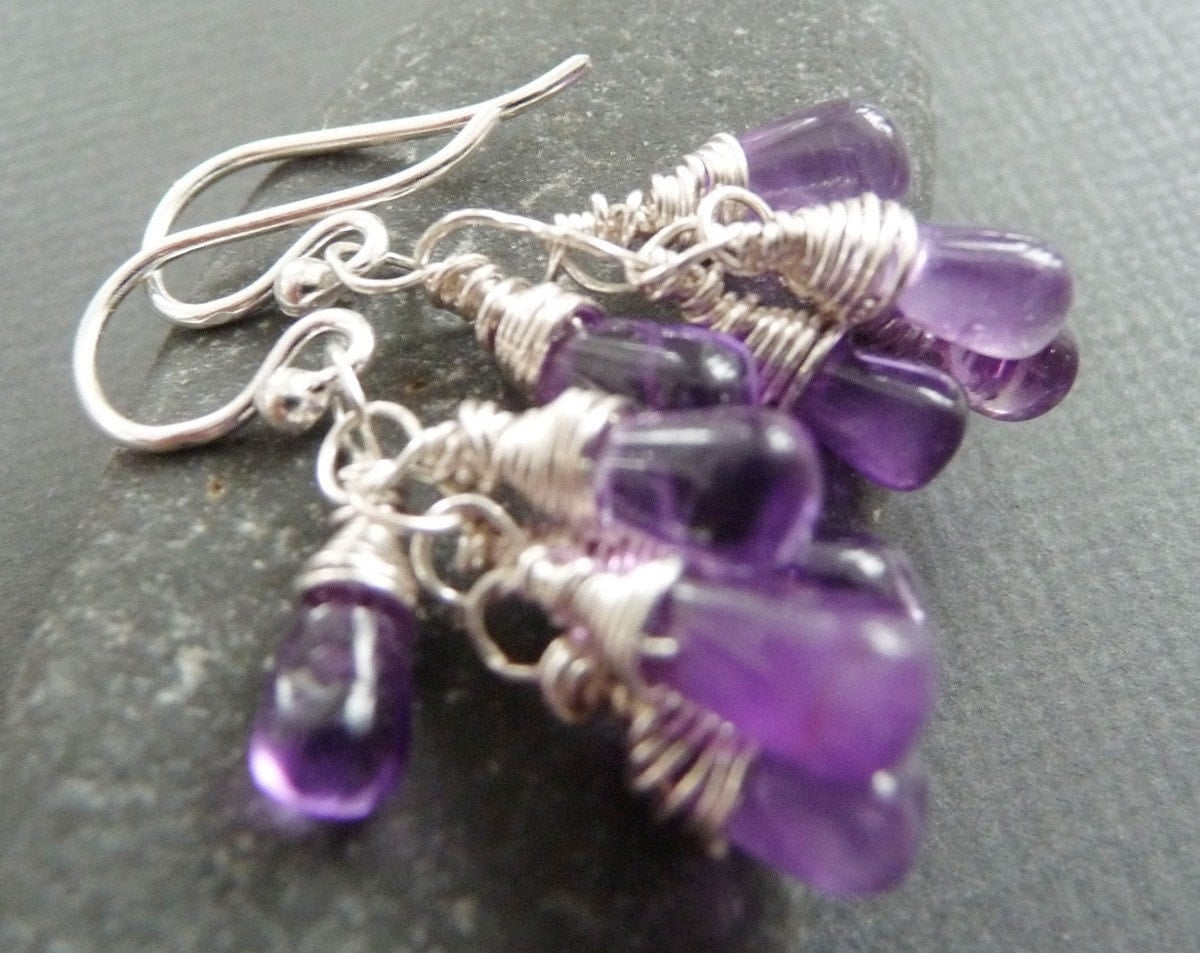 Amethyst Dream Sterling Silver Earrings