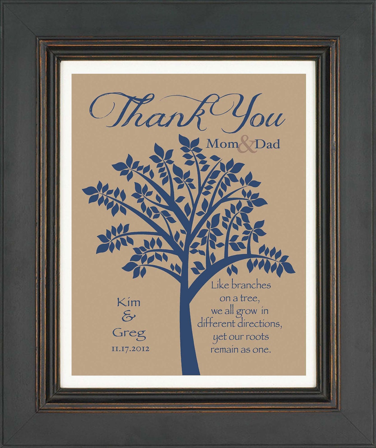 Wedding Gifts For Parents In Law : Wedding Gift for Parents In Laws Gift Thank by KreationsbyMarilyn