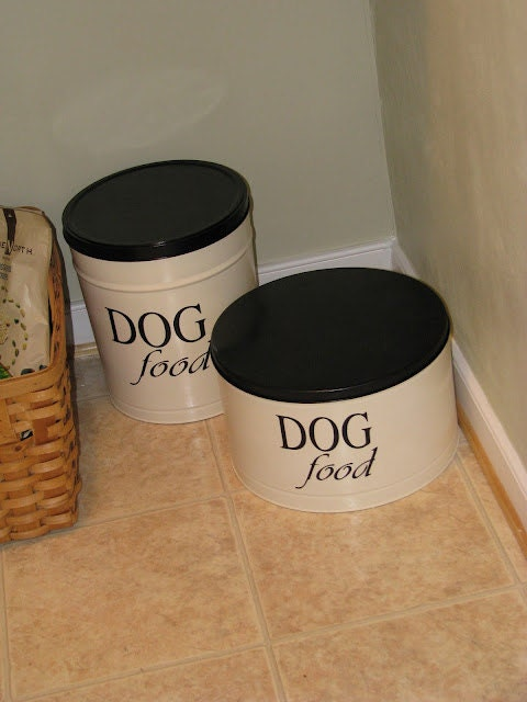 Pet Food Bin Vinyl Label