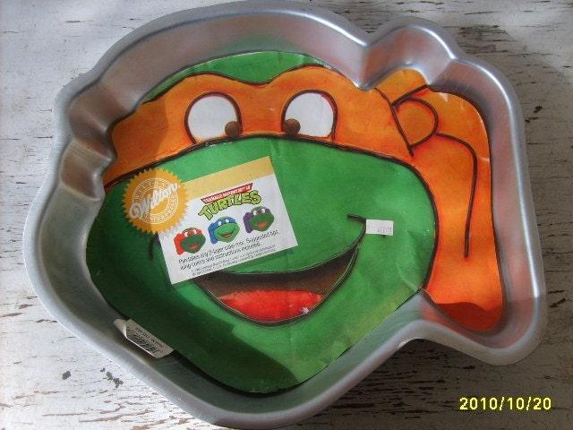 Wilton Ninja Turtle Head Cake Pan Instructions