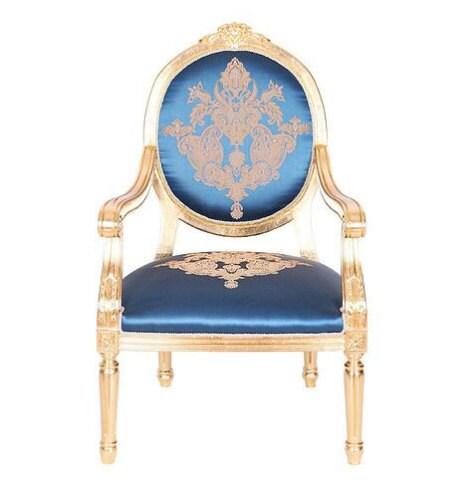 OTTOMAN style gold leaf chair ottoman Turkish Italian furniture bedroom living roomantique unique furniture artisan vintage