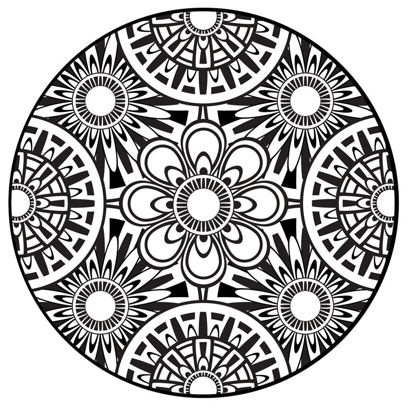 Items Similar To Coloring Page Mandala Instant PDF