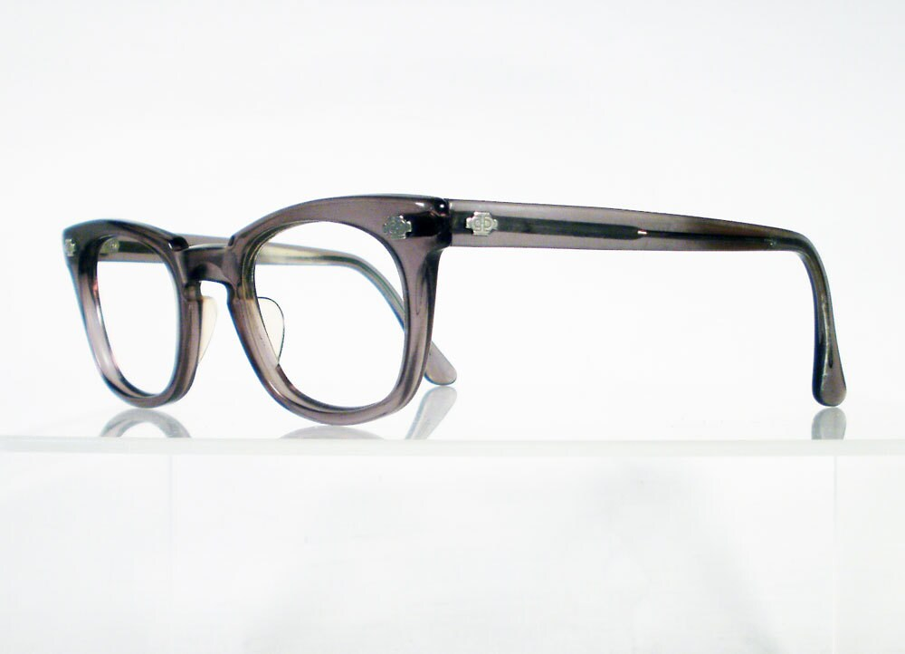 Vintage TITMUS Grey Hornrim Eyeglass Frames by Chigal on Etsy