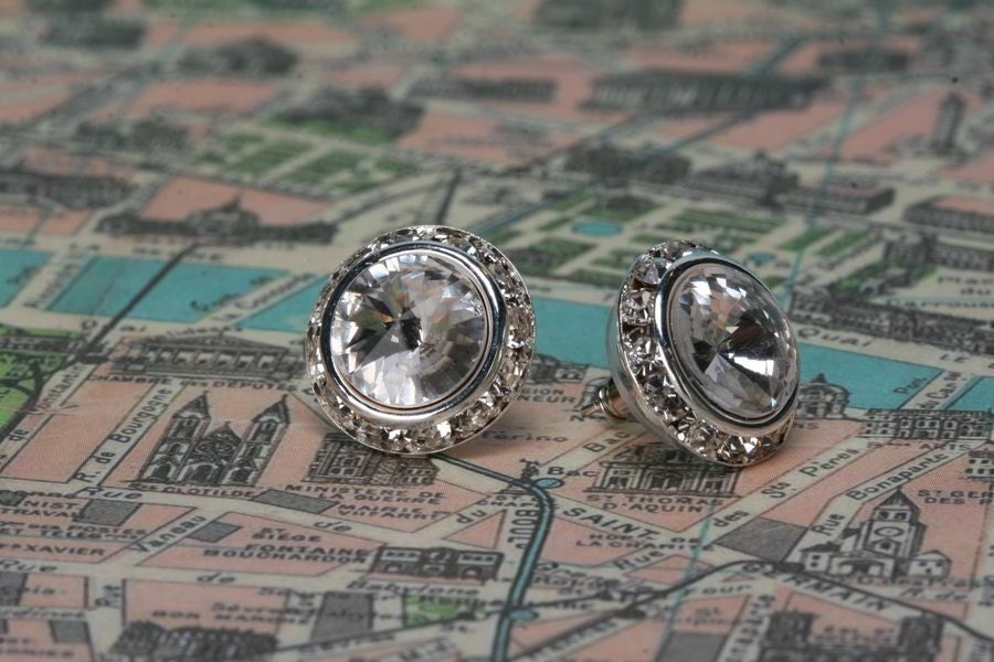 Swarovski Crystal Rivoli Post Earrings
