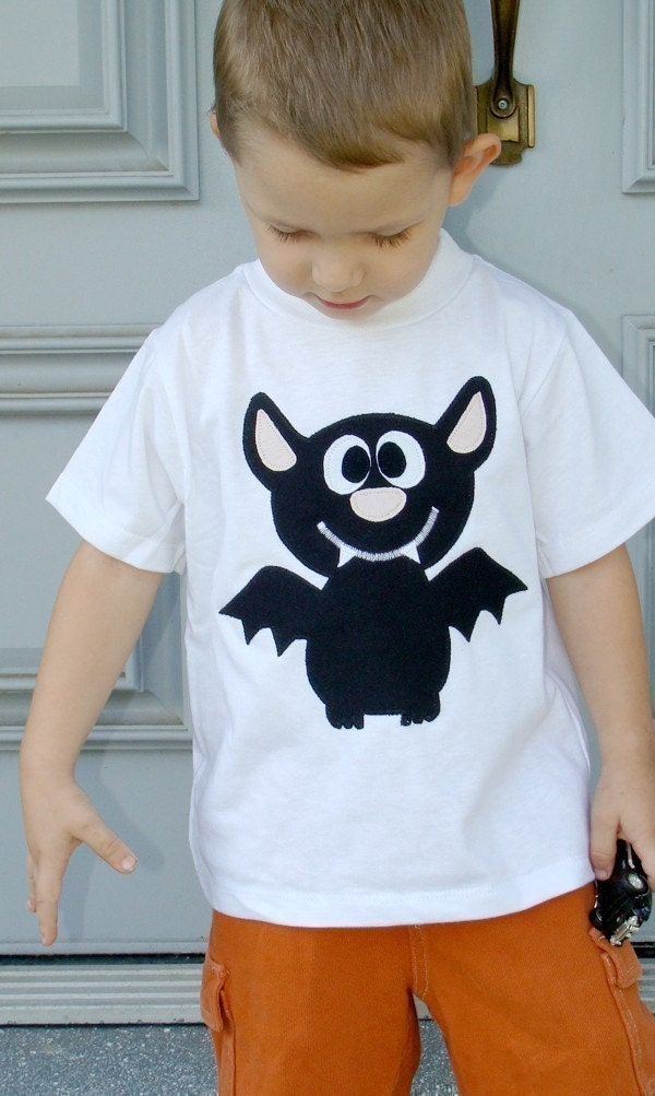 Bat Custom Applique Tshirt
