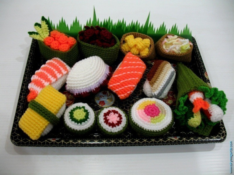Crochet Pattern - SUSHI - play food / toys
