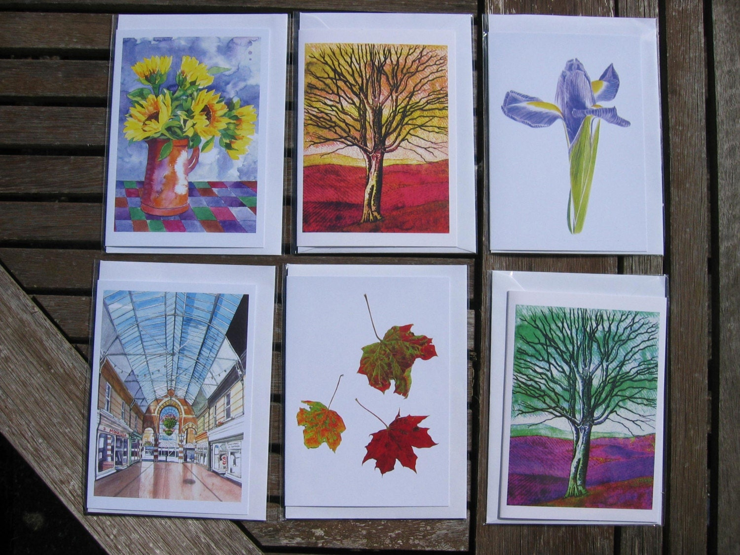 10 Greetings Cards from my Original Watercolours and/or Digital Artwork