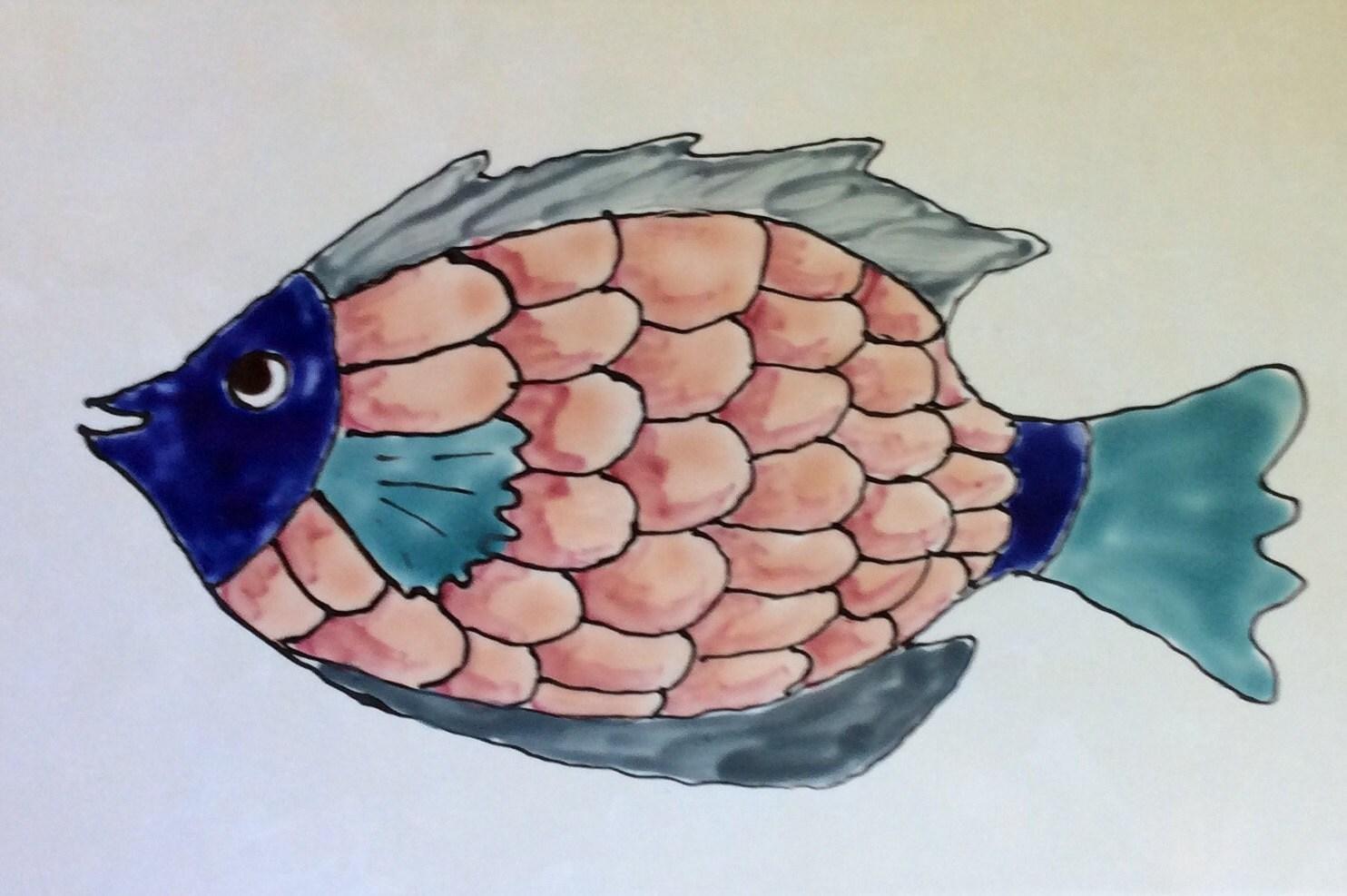 Ceramic tile fish