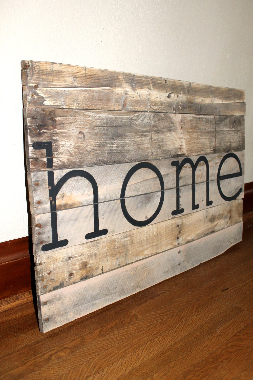Rustic on / Sign rustic 'Home'  home sign handmade Etsy similar Reclaimed Upcycled to
