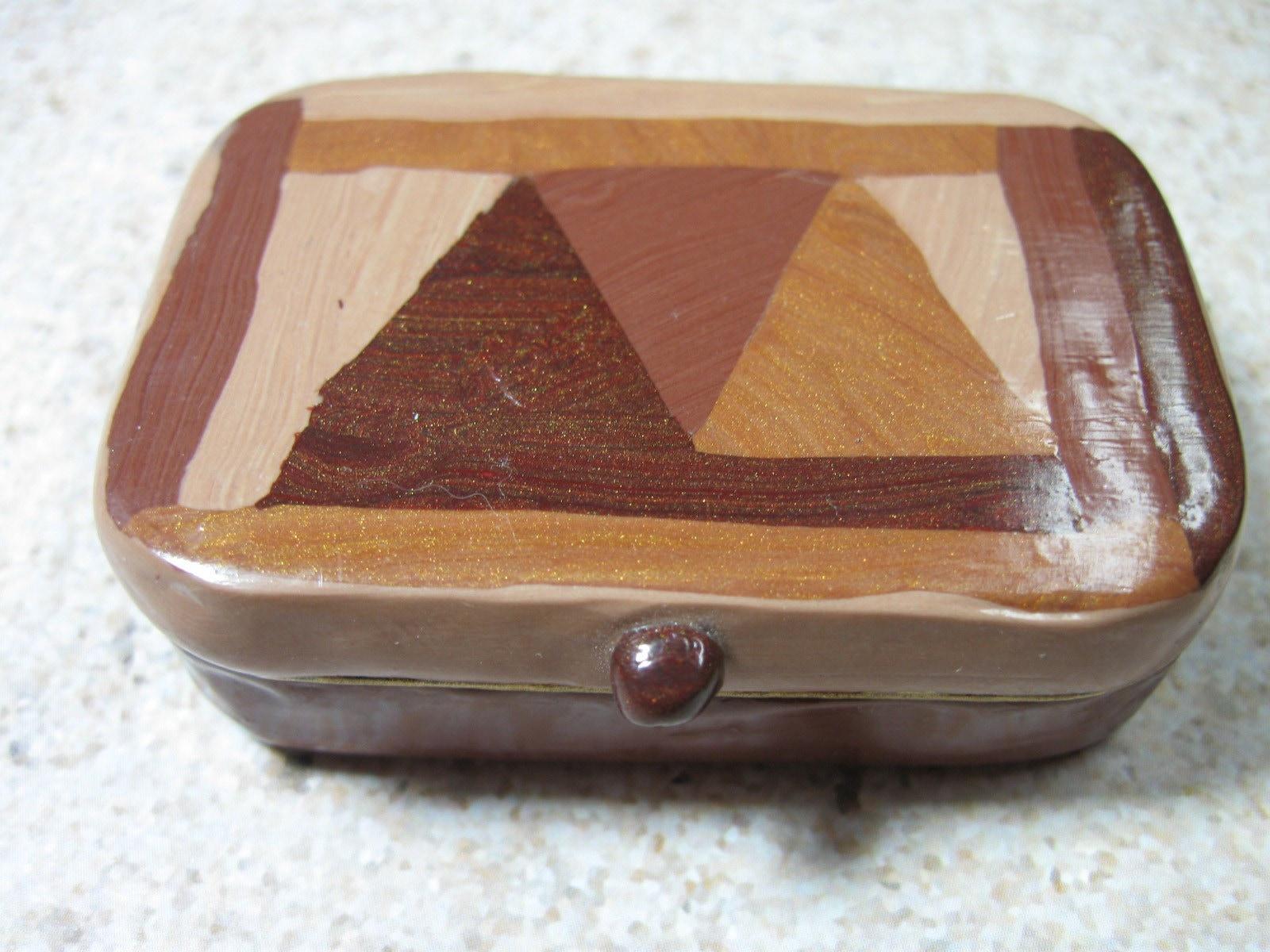 Inlay Wood Mini  Tin