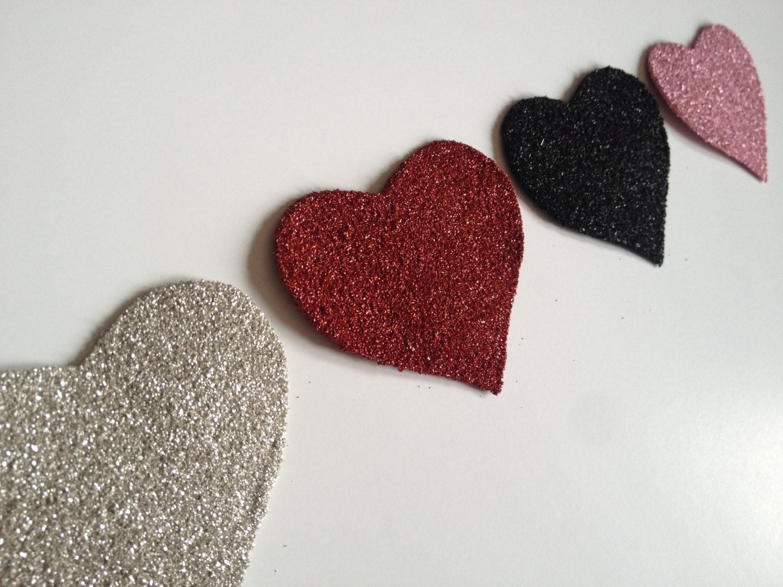 Valentine's Day Heart Silver German Glass Glitter Decoration Handmade Decor - thegiftgardenshoppe