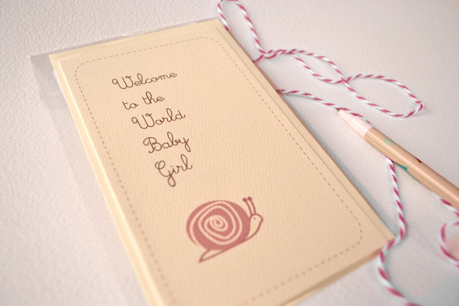 New Baby Card - Welcome to the World Baby Girl