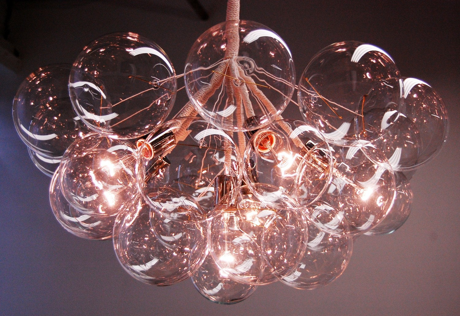 Jumbo Bubble Chandelier by PELLE by jeanpelle on Etsy from etsy.com