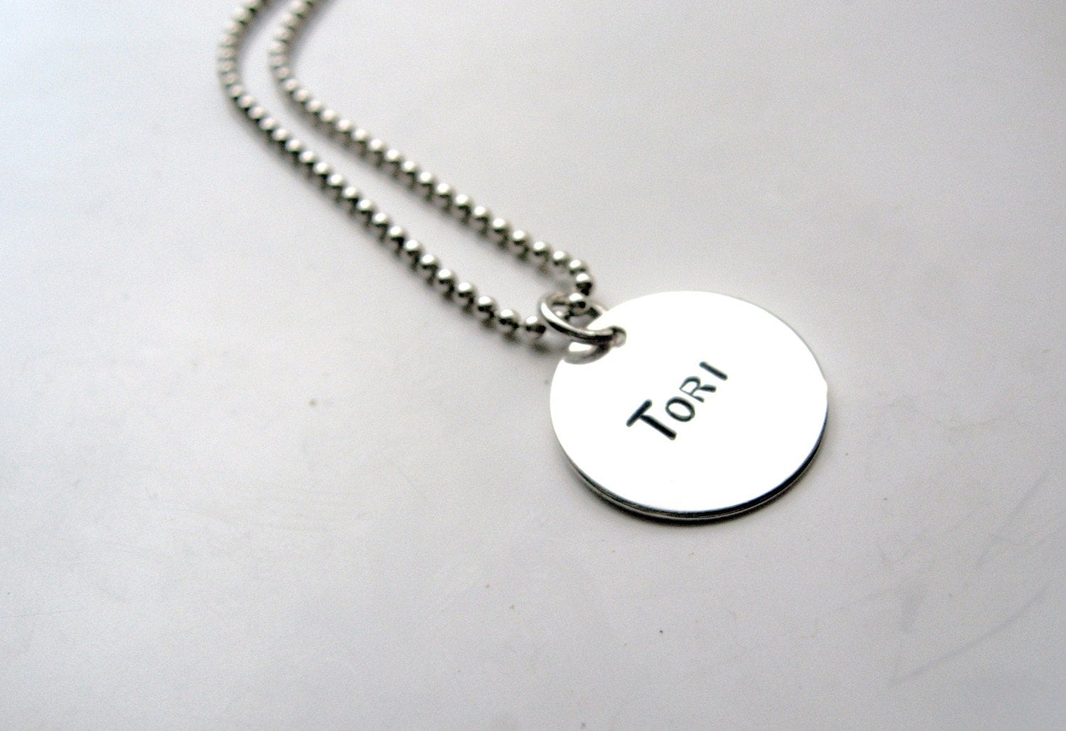 Add a Sterling Silver Name Disk - ONLY to add to a necklace being purchased from this shop
