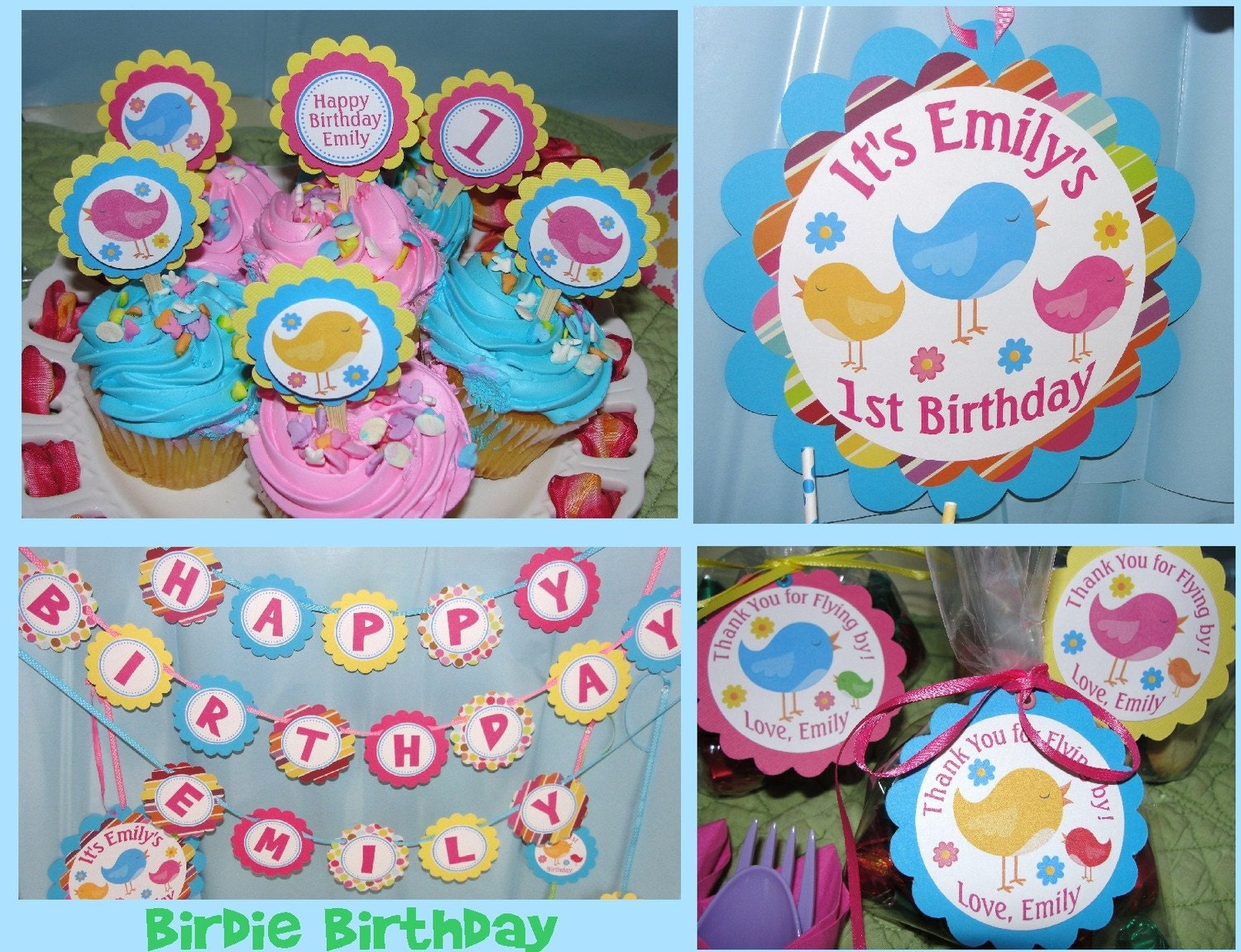 Sweet  Birdie Birthday Party Package from Party Pops