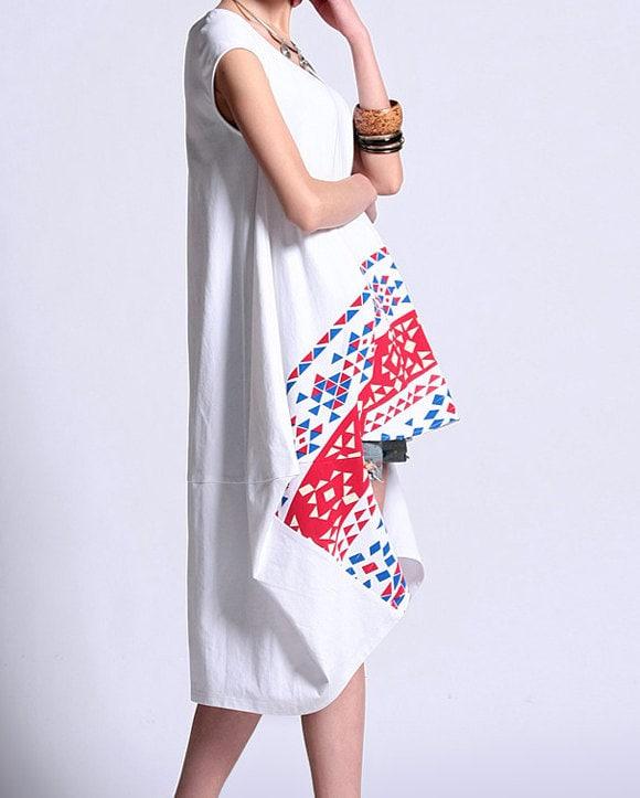 white paper cut dress