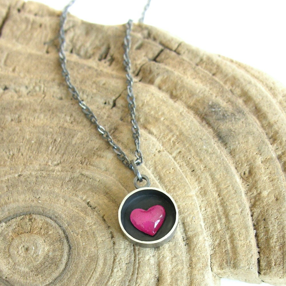 HEART BOX - sterling silver necklace