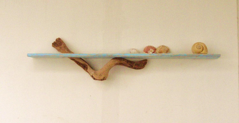 Driftwood natural shelf driftwood decoration wall by for Driftwood wall shelves