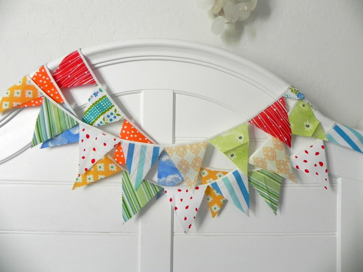 Faisons La Fête Fabric Bunting Decoration 9'