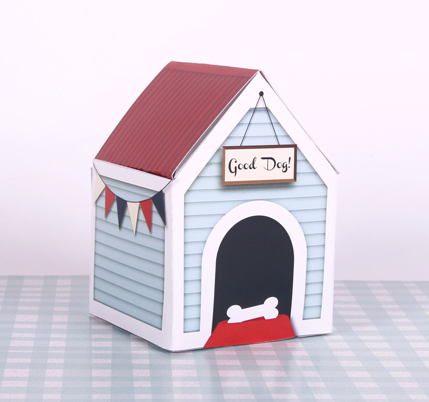 ... Wooden Kennel, Bunting, Dog Gift, Dog Food, Toy box, Good Dog, New