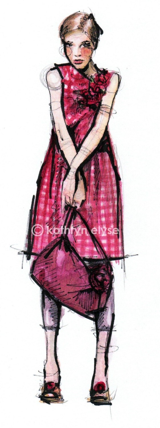 Moschino Fashion Illustration Print 2