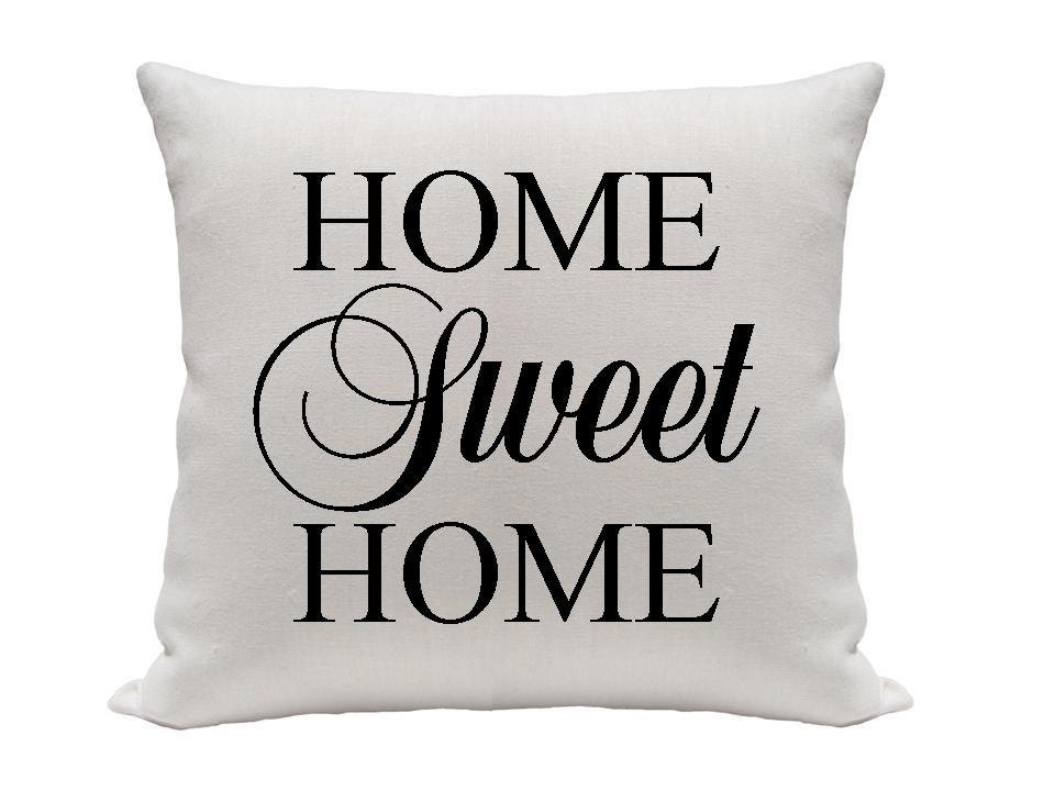 home sweet home pillow cover black and white by