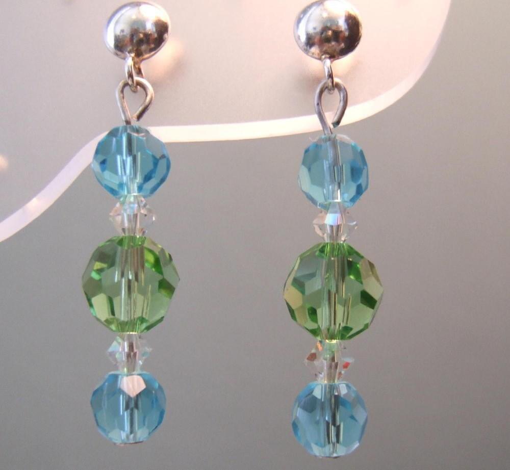 Blue and Green Joy Earrings