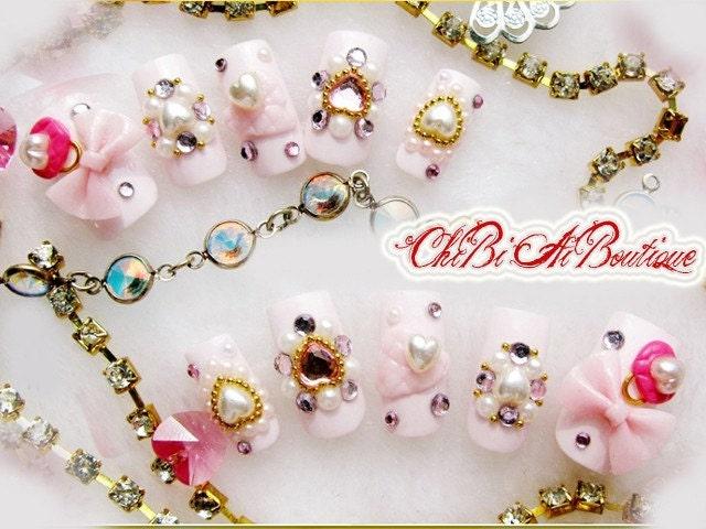 Japanska Candie Heartie Nail Art Set 10 (P00500)