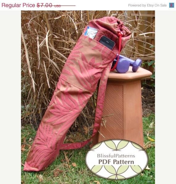 ON SALE Yoga Mat Bag PDF Sewing Pattern By BLISSFULpatterns