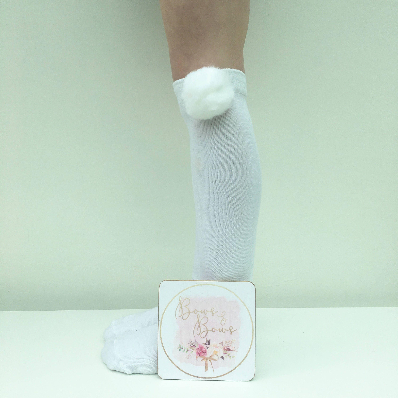 Knee High Socks Girls Socks Pom Pom Socks Over The Knee Socks School Socks Party Socks Stocking Filler Stocking Stuffa Girls Present