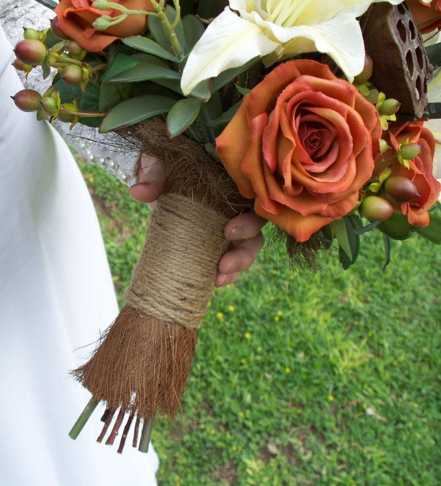 Rustic Hill Country Bridal Bouquet