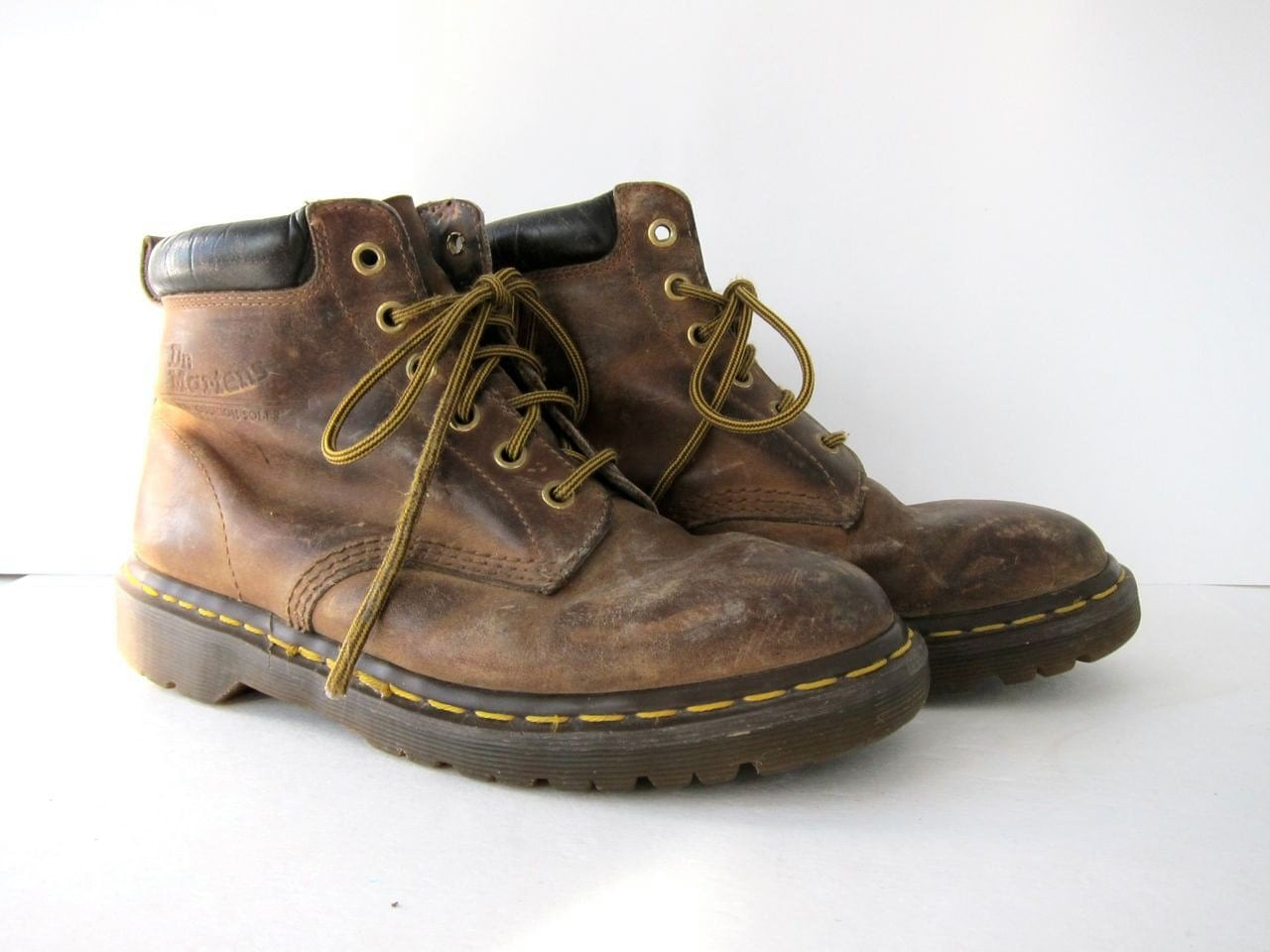 vintage brown doc martens ankle boots by