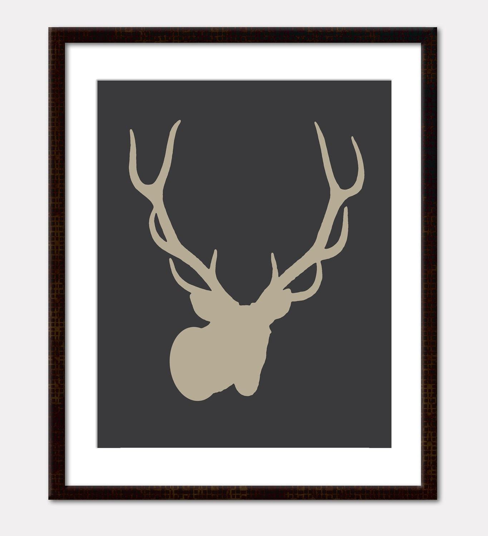 Items Similar To Deer Stag Antlers Art Print Wall Art