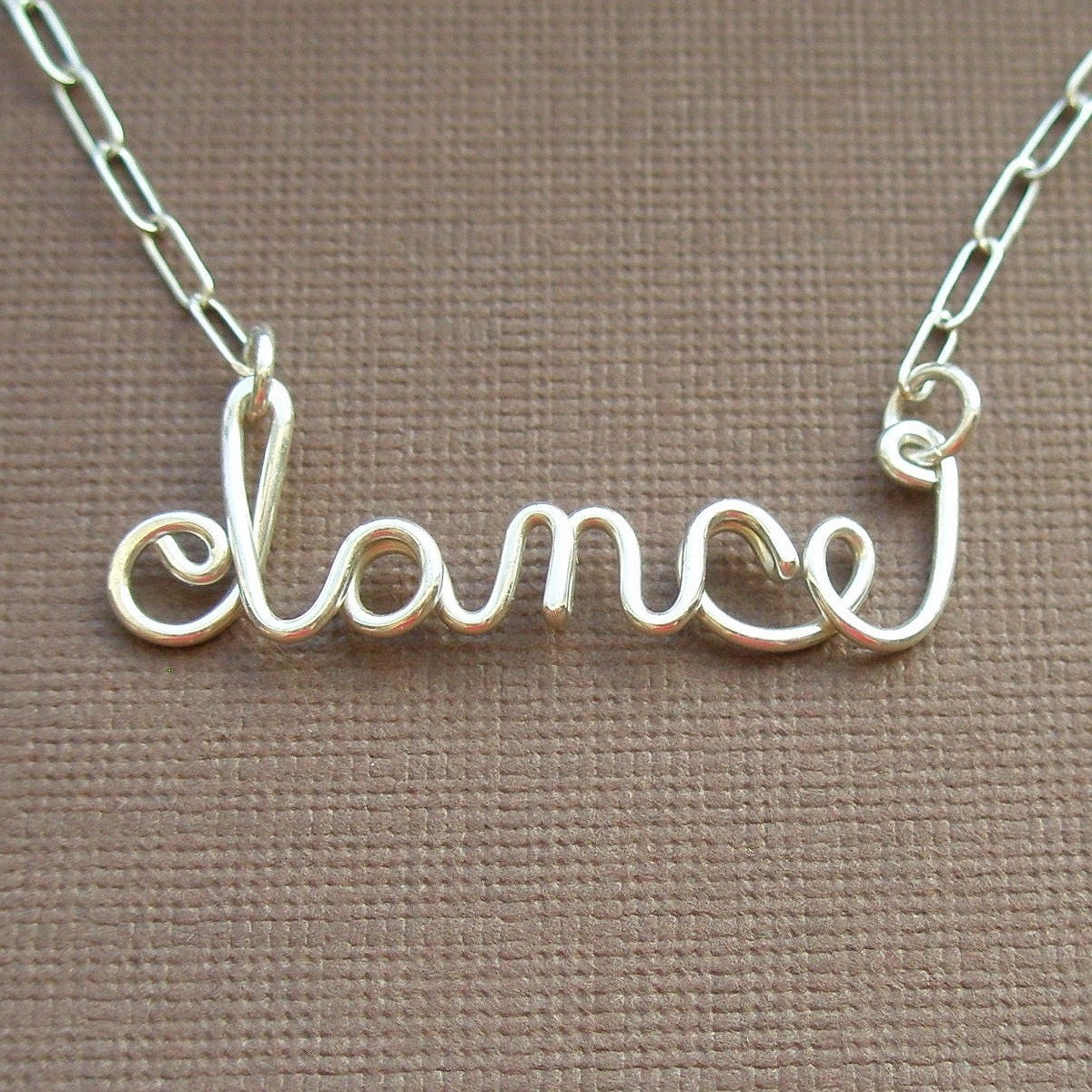 dance necklace - all sterling silver