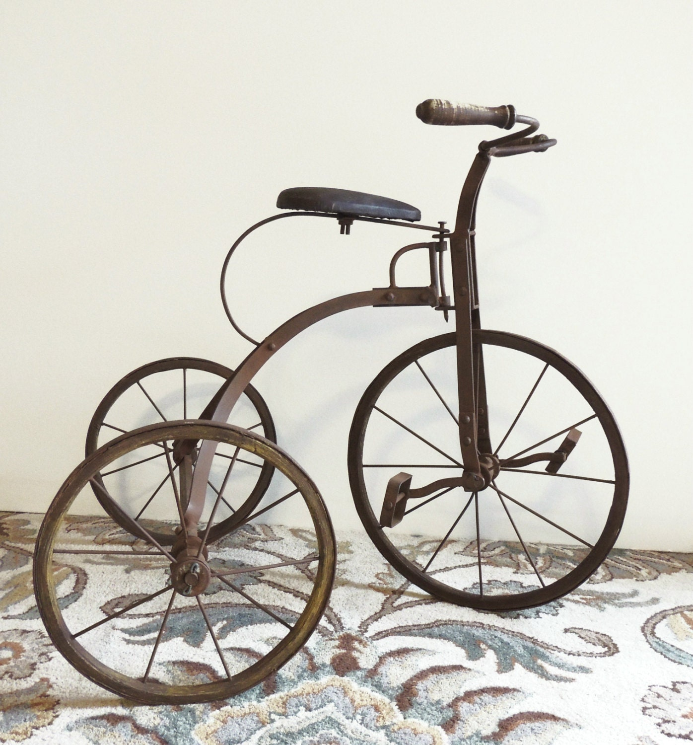 Vintage Tricycle Wheels : Reserved for lfuhrman antique tricycle old by