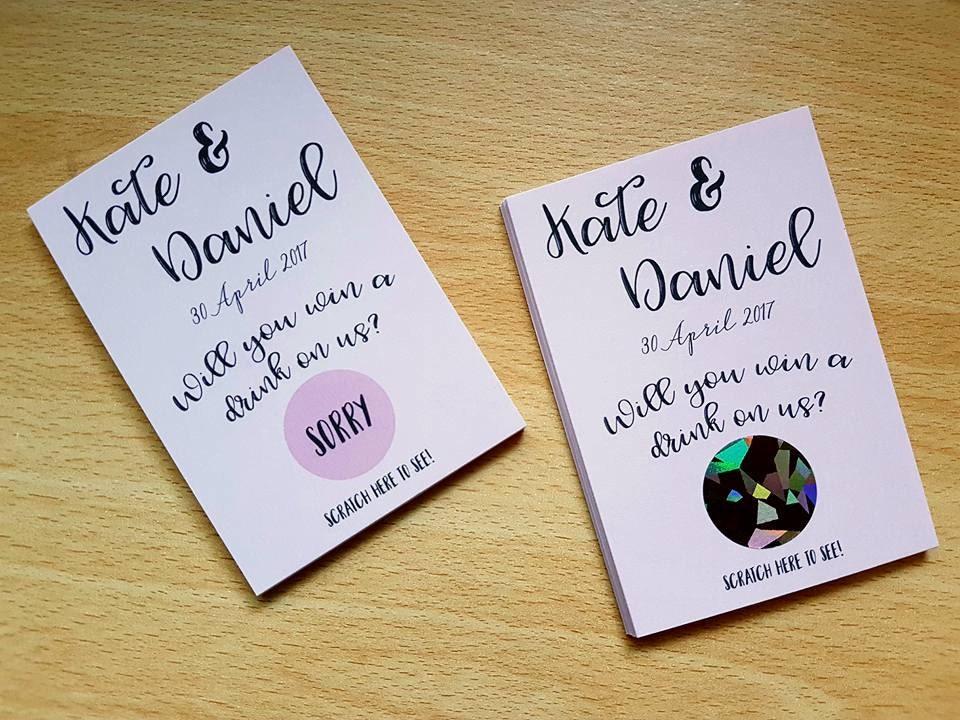 Scratch card for wedding