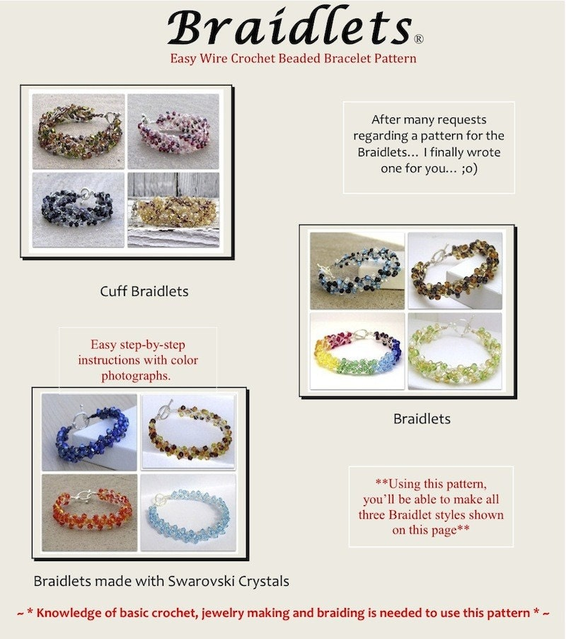 How to Crochet a Bead and Wire Bracelet - CraftStylish
