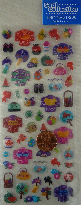 summer  festival stickers