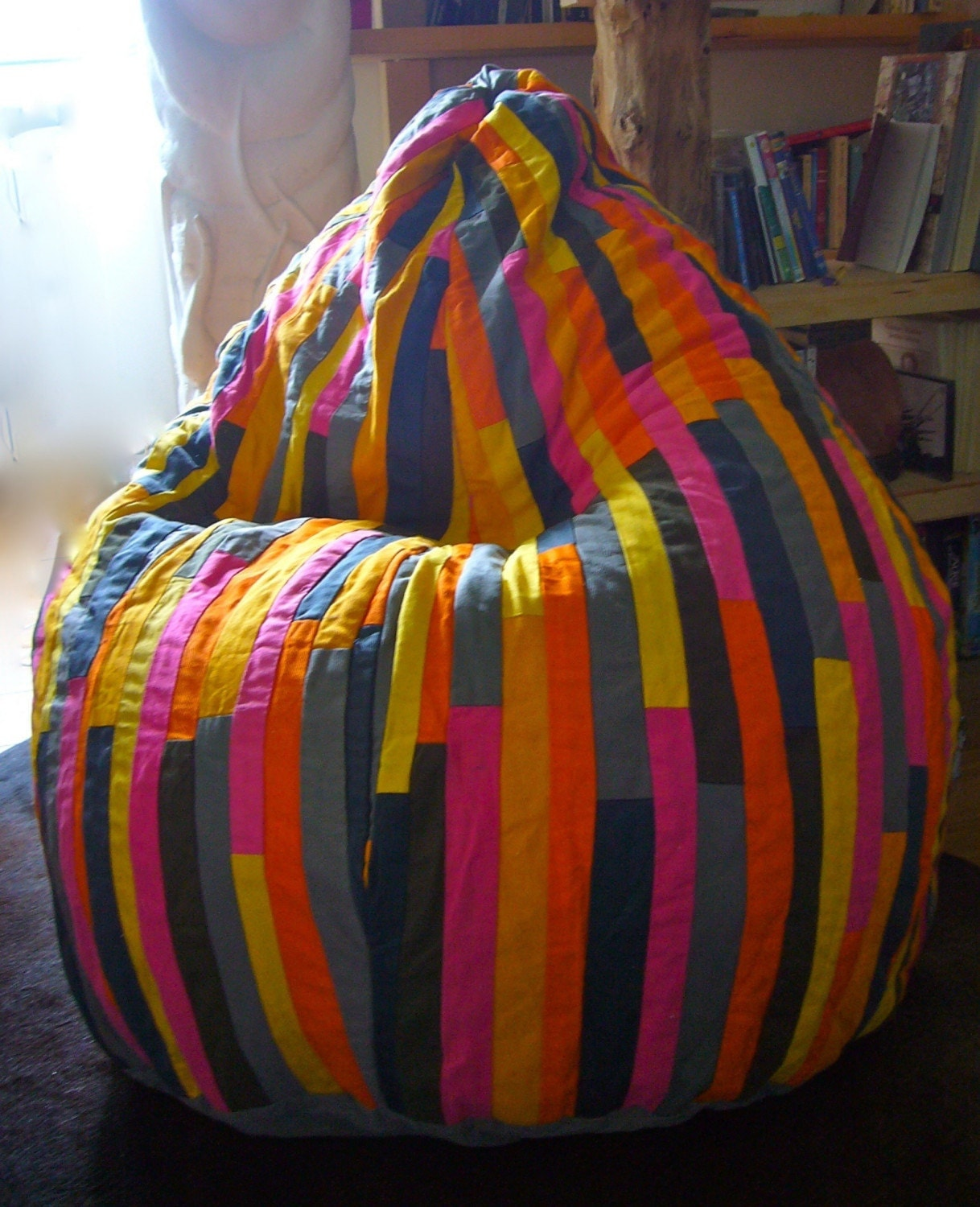 Recycled textiles beanbag Pink Lady