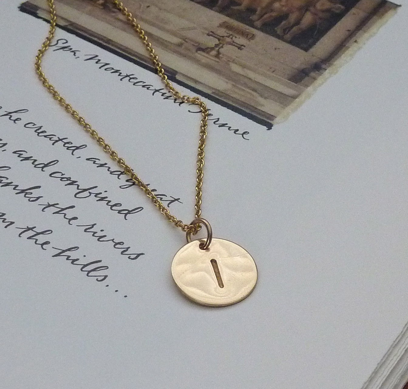 Take It Personal - Initial Charm Necklace in 14K Goldfill, Graduation gift, m. frances Jewelry