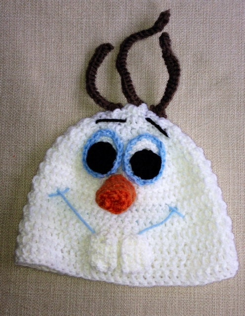Crochet Pattern Olaf Hat : Crocheted Olaf the Snowman from Frozen hat by lilosandstitches