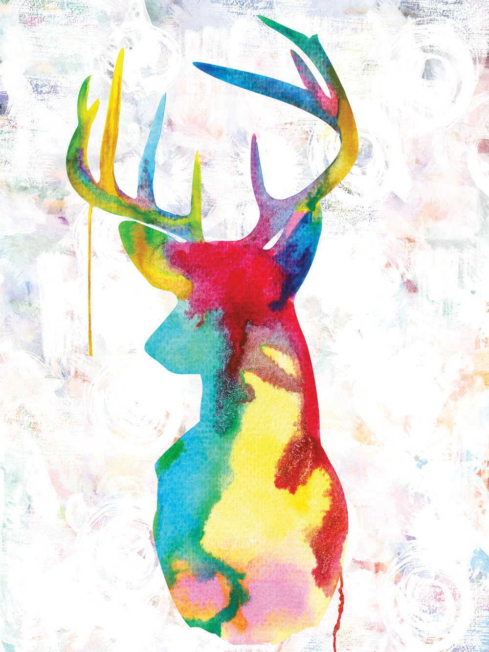 Oh Deer - Giclee print on canvas - huge 16x20 inches - ready to hang