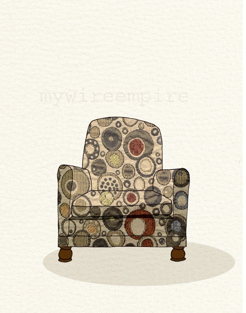 modern chair 01 (bubble burst) - print