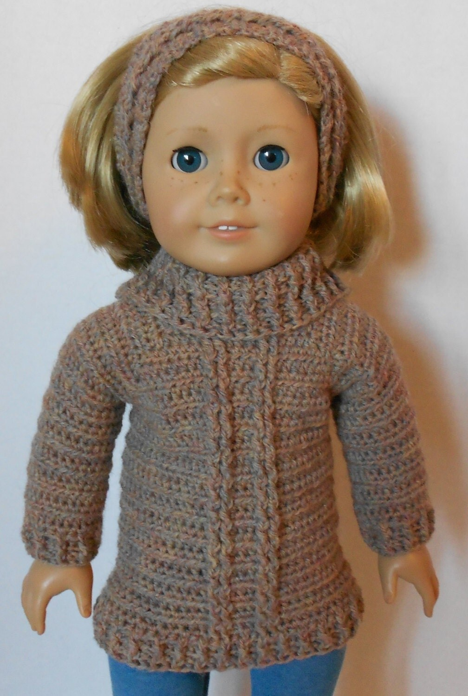 Crochet Pattern Doll Sweater : CROCHET PATTERN PDF Turtleneck Sweater and by Patternsetc