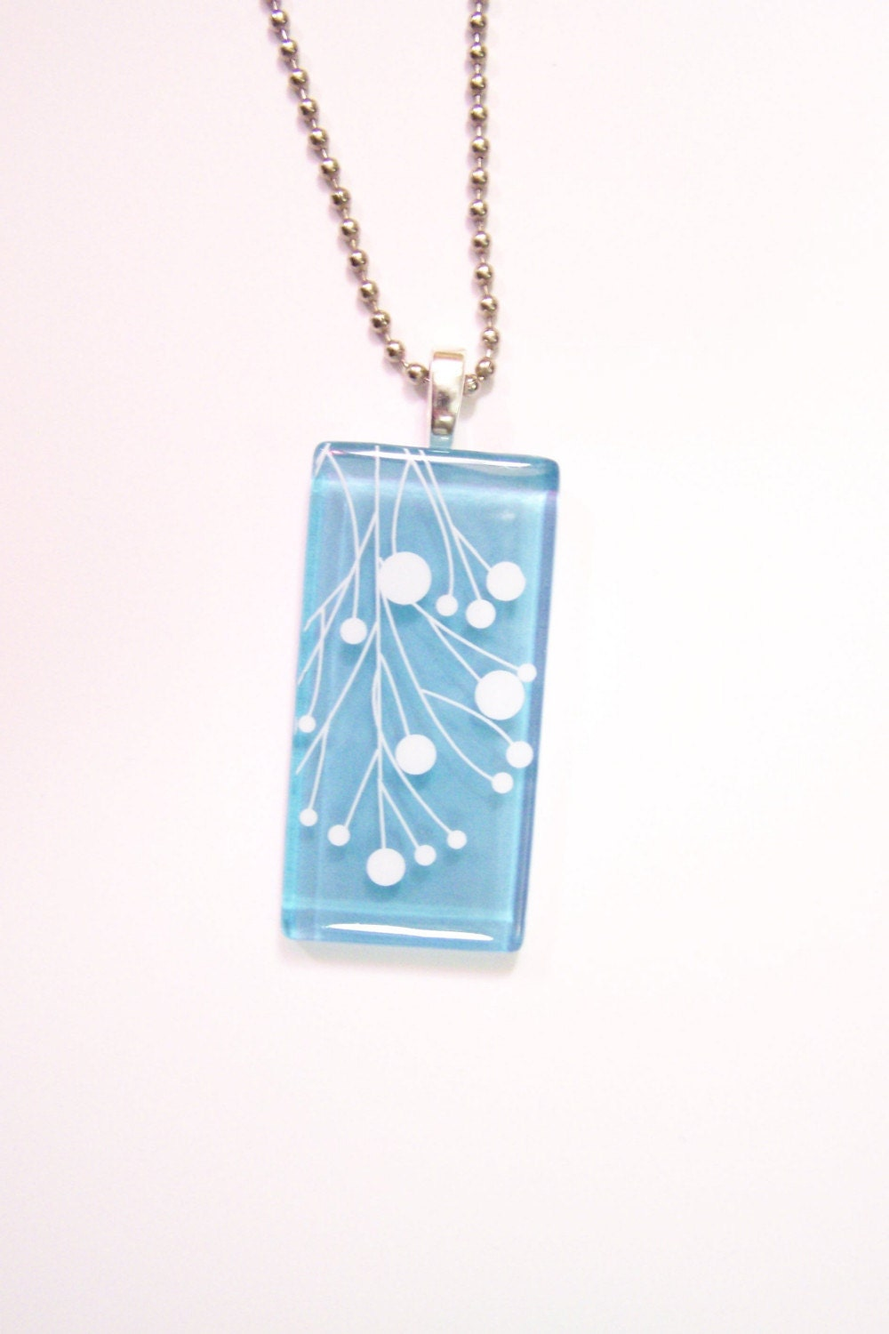 Cornflower Organic Graphic Pendant