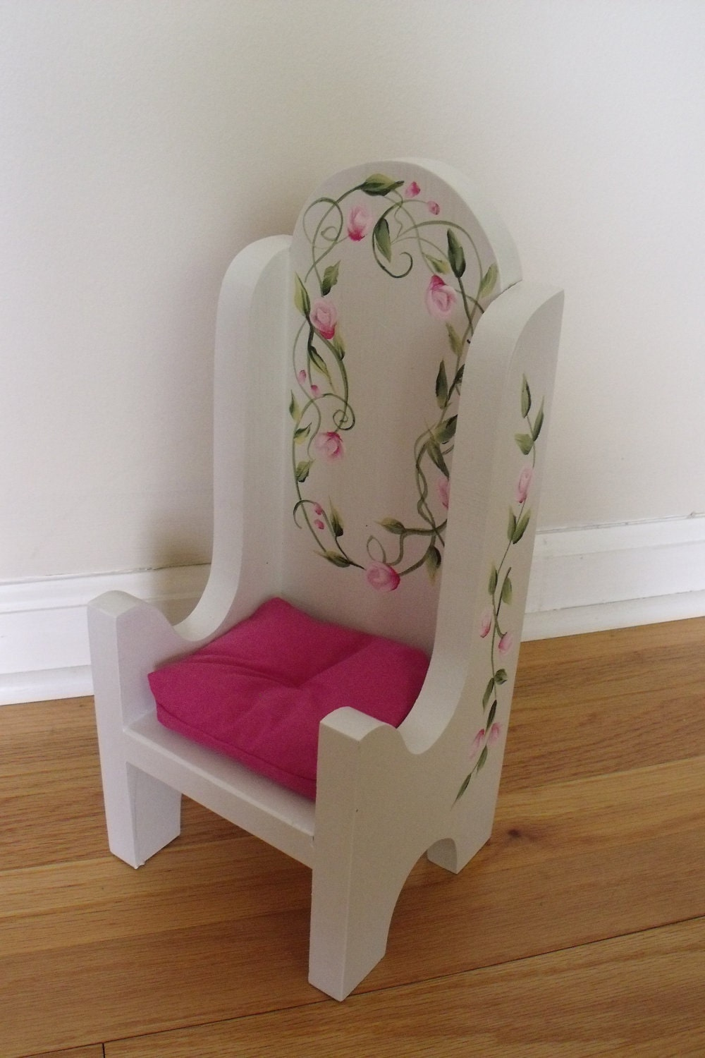 18 Inch American Girl Doll Furniture Wood Doll Chair By Wovenwood